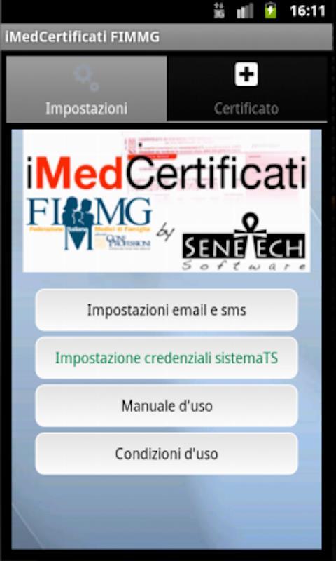 iMedCertificati per Android