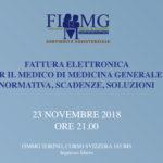 Fattura Elettronica e Medicina Generale, 23 novembre ore 21