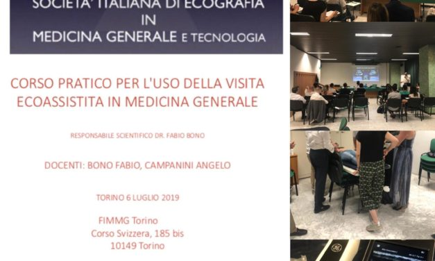 VISITA DI MEDICINA GENERALE ECO-ASSISTITA: PRIMO CORSO IN FIMMG TORINO