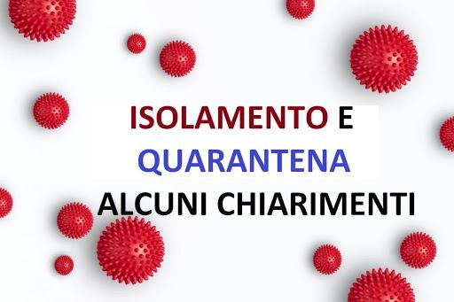 ISOLAMENTO E QUARANTENA: AGGIORNAMENTO DEL MINISTERO